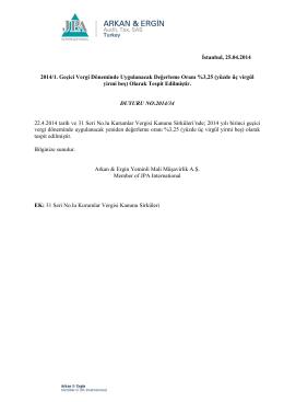 2014-34 2014/1. Geçici Vergi Döneminde