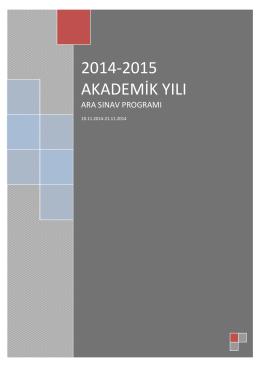 2014-2015 akademik yılı