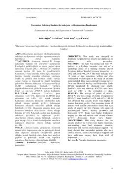 Türk Kardiyol Dern Kardiyovasküler Hemşirelik Dergisi
