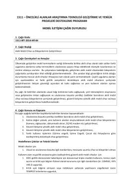 BİT- Mobil İletişim. 1511-BİT-2014-Mİ-04