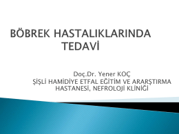 Doç. Dr. Yener KOÇ – Şişli Hamidiye Etfal EAH