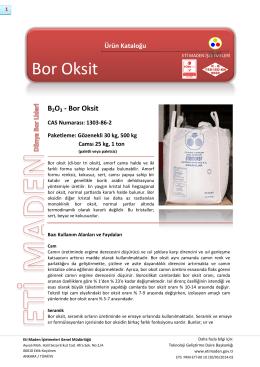 Bor Oksit - Eti Maden İşletmeleri
