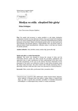 Medya ve etik: eleútirel bir giriú1