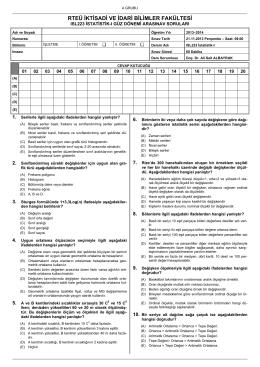 ISL223 İstatistik-I Örnek Arasınavı-2