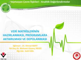 Vejetasyon Çevre İlişkileri - Analitik Değerlendirmeler