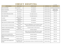 sks eğitim planı - Emsey Hospital