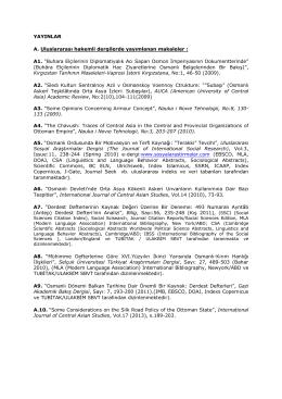 EmineErdoğanÖzünlüYayınListesi(pdf)