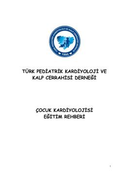 çocuk kardiyolojisi eğitimi için rehber