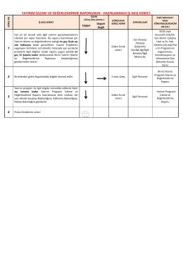 yatırım izleme ve değerlendirme raporunun hazırlanması iş akış süreci