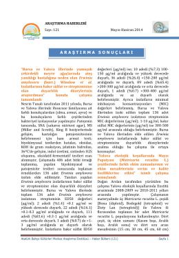 Sayı:121( Mayıs - Haziran 2014) - Atatürk Bahçe Kültürleri Merkez