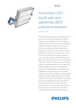 Product Familiy Leaflet: ArenaVision LED