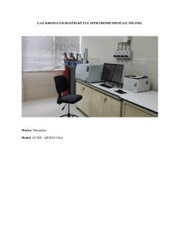 GAZ KROMATOGRAFİSİ-KÜTLE SPEKTROMETRESİ (GC/MS