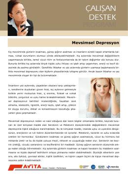 Mevsimsel Depresyon - Avita Çalışan Destek