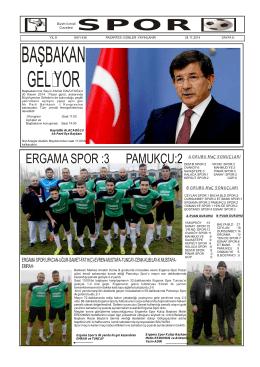 ERGAMA SPOR :3 PAMUKÇU:2 - bizim ivrindi gazetesi haber sitesi