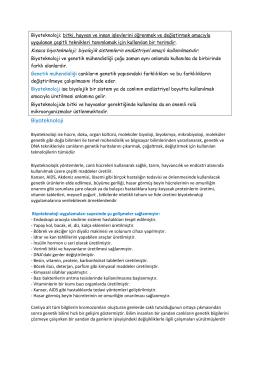 Genetik mühendisliği-Biyoteknoloji