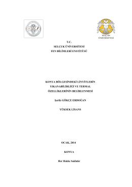 tc selçuk üniversitesi fen bilimleri enstitüsü konya bölgesindeki