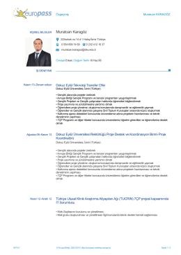 Muratcan Karagöz - Gençlik Programı Eğitmen Havuzu