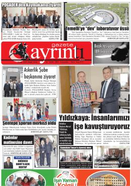 24 Eylül 2014 Çarşamba - Polatlı Gazete Ayrıntı