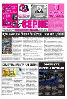 27.08.2014 Tarihli Cephe Gazetesi