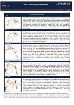 31 Temmuz 2014 Özbey Finansal Danışmanlık Ltd Şti.