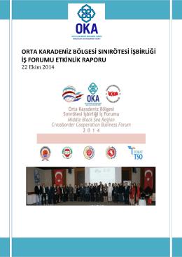 orta karadeniz bölgesi sınırötesi işbirliği iş forumu etkinlik