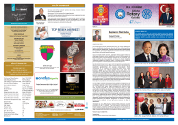 Sayı 11 Sunu - Adana Rotary Kulübü