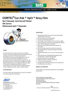 CORTEC®Cor-Pak ® VpCI ® Streç Film