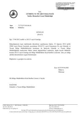 indir - Gümrük ve Ticaret Bakanlığı Tasfiye Hizmetleri Genel