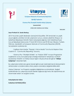 European Network of Community Reporters İşbirliği