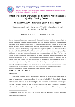 Effect of Content Knowledge on Scientific Argumentation Quality