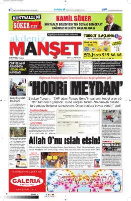 HODRi MEYDAN - Akdeniz Manşet