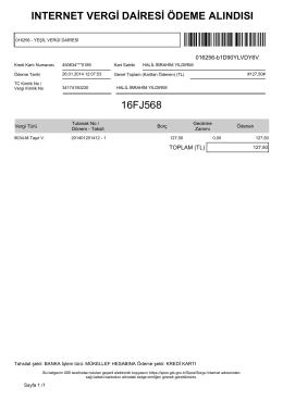 ınternet vergi dairesi ödeme alındısı 16fj568