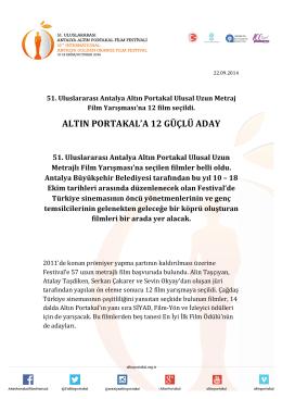 51. Uluslararası Antalya Altın Portakal Ulusal Uzun Metraj Film