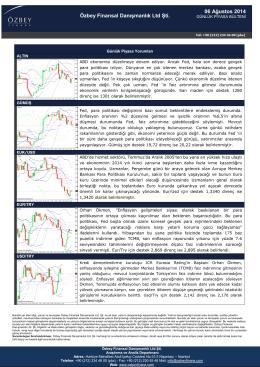 06 Ağustos 2014 Özbey Finansal Danışmanlık Ltd Şti.