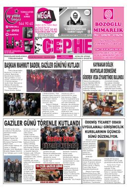 20.09.2014 Tarihli Cephe Gazetesi