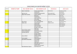 develi devlet hastanesine görevlendirilen personel listesi