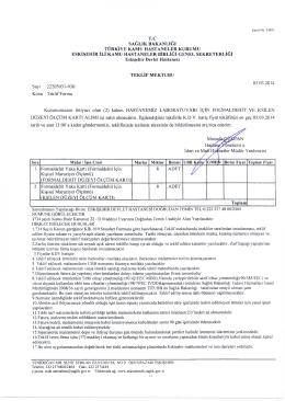 Sayı : 22205031-930/ Konu : Teklif Formu 03.03.2014