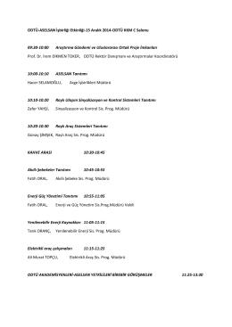 ODTÜ-ASELSAN İşbirliği Etkinliği-15 Aralık 2014