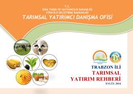 trabzon - TC Gıda Tarım ve Hayvancılık Bakanlığı