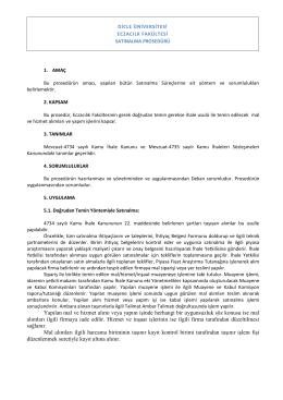 Prosedürler - Dicle Üniversitesi