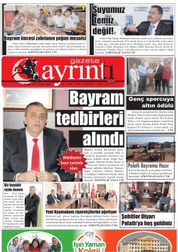 1 ekim 2014 çarşamba - Polatlı Gazete Ayrıntı