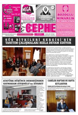 15.10.2014 Tarihli Cephe Gazetesi