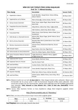 MIM 335 Ödev Konu Başlıkları_2014
