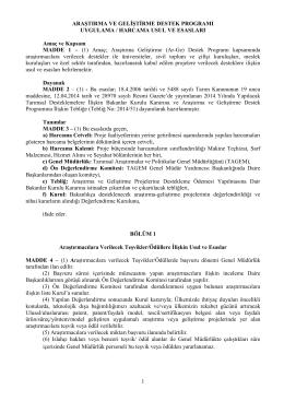 ar-ge usul ve esaslar1 03.12.2014 - TC Gıda Tarım ve Hayvancılık