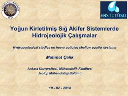 Prof. Dr. MehmetCelik_Sunum - Ankara Üniversitesi Su Yönetimi