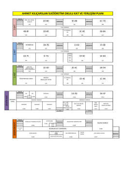 Okul Kat ve Yerleşim Planı