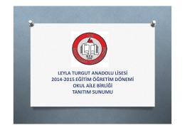leyla turgut anadolu lisesi 2014-2015 eğitim öğretim dönemi okul