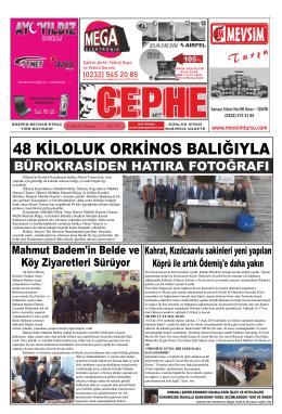 13.02.2014 Tarihli Cephe Gazetesi