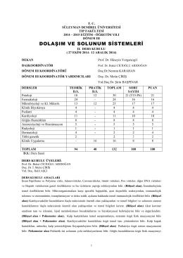 İkinci Kurul - Süleyman Demirel Üniversitesi