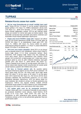 TUPRAS - Yapı Kredi Yatırım